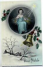 Buon Natale Gesù Campana Child Jesus Bell Cloche Glossy PC Circa 1930