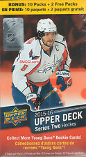 Upper Deck NHL  2015-16 Series 2 Hockey Blaster Box new In Hand