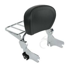 Chrome Backrest Sissy Bar + Luggage Rack For Harley 94-08 Touring FLHT FLHX FLHR