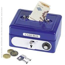 Cash box with Combination lock Piggy bank 14021 blue goki - new