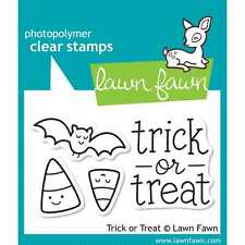 NEW LAWN FAWN TRICK OR TREAT ACRYLIC STAMP SET