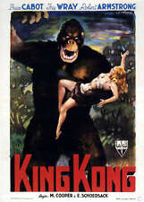 King Kong Classic Vintage  Poster EXTRA LARGE CANVAS PRINT A1 colour Fay Wray