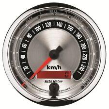 """Auto Meter 1288-M 3-3/8"""" Speedometer Gauge 0-260 Km/H American Muscle"""