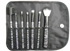 Travel Makeup Brush Set of 7 With Pouch Beauty Treats Zebra