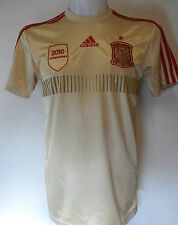 Espagne Football 2014 gold away shirt par adidas adultes taille XL NEUF