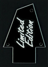 GUITAR TRUSS ROD COVER - Custom Engraved - Fits IBANEZ - LIMITED EDITION - Black