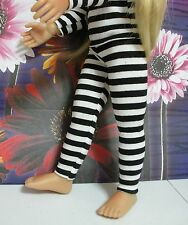 Fits 18 Inch Kidz 'n' Cats Doll ... Black & White Stripe Leggings ... D268