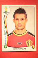 Panini BRASIL 2014 N. 580 MIRALLAS BELGIE WITH BLACK BACK TOPMINT!!