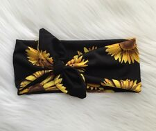 Sunflower Knotted Bow Headband Bow Head Wrap Women's Headband Fashion Hair Band