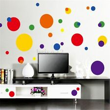 Removable Colorful Polka Dot Circle Bubble Wall Vinyl Sticker Home Decal Mural