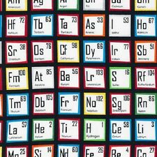 Robert Kaufman Cotton Fabric.Science Fair.Periodic Table.Geek Chic.By the FQ