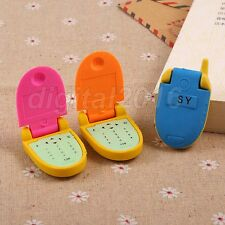 Cool Rubber Cell Phone Style Flip Top Pencil Eraser Stationary Children Gift