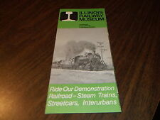 1981 ILLINOIS RAILWAY MUSEUM BROCHURE