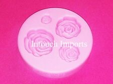New 4 Size Rose Flower Blossom Silicone Mould For Sugarcraft Cake Decorating