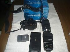 CANON  EOS REBEL XT / EOS 350D 8.0 MP DIGITAL SLR CAMERA -W/LENS-FLASH-NICE...