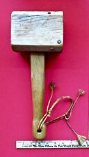 Large Wood Mallet Hammer Timber Frame Wood Working Carving Tool READ LOOK
