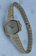 Ladies gold colour Timex watch, good condition, working order, locking clasp.