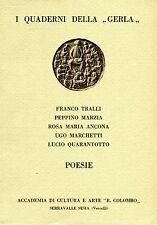 F. Tralli P. Marzia R.M. Ancona U. Marchetti POESIE I QUADERNI DELLA GERLA