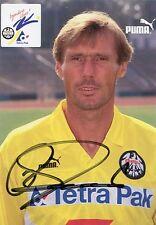 Autogrammkarte Rudi Bommer Eintracht Frankfurt Originalunterschrift Autogramm