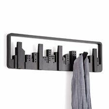 Umbra SKYLINE MULTI HOOK - Wall COAT RACK with 5 Hooks - BLACK