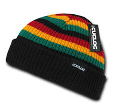 STRIPED BEANIE HAT Jamaican Rasta Winter Cap ski snowboarding sports warm