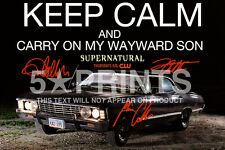 SIGNED PP SUPERNATURAL KEEP CALM JENSEN ACKLES MISHA COLLINS 12x8 POSTER PHOTO