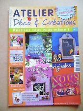 Magazine Atelier déco et créations plus de 20 créations originales  N°2  /R54