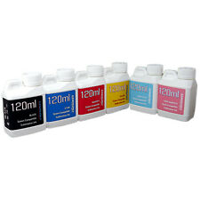 6 Multi-Color 120ml bottles ink Epson Printer Dye Sublimation Ink  Heat Transfer
