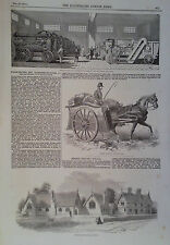 1854 PRINT FARMING EQUIPMENT AT SMITHFIELD CLUB CATTLE- REIGATE NATIONAL SCHOOLS