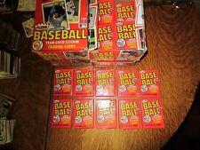 1982 Fleer Baseball Unopened Wax Packs Lot of 10 Ripken Rookie?