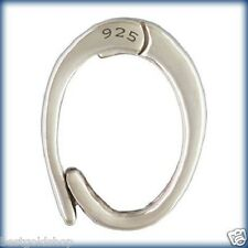 Large Charm Enhancer Attacher Holder Snap Clasp Genuine 925 Sterling Silver