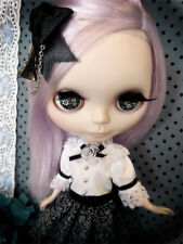 Gothic Mystery Paris Black Boutique Sissy Maid Dress Outfit for Blythe/Pullip-