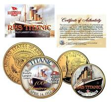 TITANIC RMS Ship *100th Anniversary* 24K Gold U.S. Mint Legal Tender 2-Coin Set