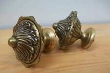 Vintage French Matching Pair of Solid Brass finials - Curtain Pole ends #17