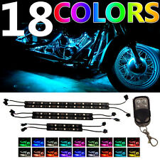 6Pc ADVANCED Million-Color 36 LED RGB SMD Motorcycle NEON Flexible Light Kit