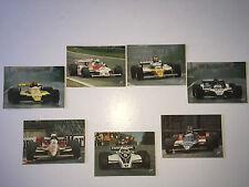 Lot  7  Cartes Postales  FORMULE 1  Zolder  Monaco  Prost  Piquet  Fittipaldi