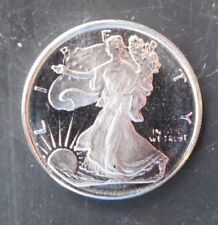 Beauty! Lot of 2 SILVER EAGLE 3 Gram Rounds (6 grams total)