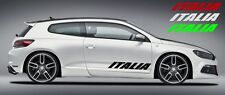 Aufkleber Sticker ITALIA Italien Auto Tür Heckscheibe Motorhaube 10x18cm