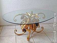 70er Wohnzimmertisch Tisch Glastisch Couchtisch Florentiner Stil Gold 80er