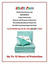 """100ct 30x30"""" 12hr PUPPY PAD PREMIUM ABSORBOMAX 90 LBS DOGS or LESS FREE SAMPLES"""