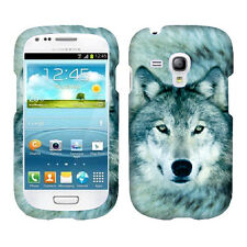 Siberian Husky Wolf Case for SAMSUNG GALAXY S3 MINI i8190 Cover Phone Safty  -.