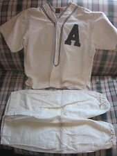 "1930's era ""A"" baseball uniform jersey and pants Empire Pepperell Fabrics"