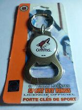 Coyotes Phoenix ( Arizona ) Bottle Opener Key Ring NEW