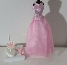 BARBIE DOLL SILKSTONE ROYALTY MUSE FASHION AVENUE PINK SHIMMER GOWN GLOVES SHOES
