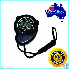 Handheld Sports Stopwatch Stop Watch Time Clock Alarm Counter Timer