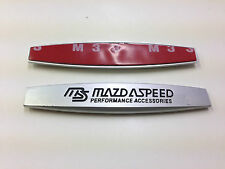 2 PC MAZDA SPEED METAL SIDE REAR FENDER Emblema Badge Adesivo Dimensioni 98mm
