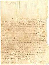 Lettera Sig. Bellandi da Livorno Trasferimento Spagna Barcellona per Affari 1835