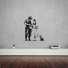 Banksy WIZARD OF OZ STOP e ricerca Parete In Vinile Arte Decalcomania Per Home Decor / Int...