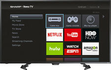 "Sharp - 50"" Class (49.5"" Diag.) - LED - 1080p - Smart - HDTV Roku TV - Black"