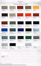 1999 FORD COLOR CHART Chip Paint Sample Brochure:MUSTANG,ESCORT,CROWN VICTORIA,